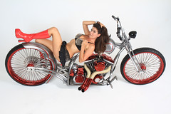 Ryan on Bare Essentials (taddzilla) Tags: afterhoursbikes afterhours custommotorcycle custombuilt female sexy girl brunette shortskirt bobber chopper bareessentials motorcycle bike bra boots builtnotbought tires model boobs cleavage skirt engine fortlauderdale florida 2015 allrightsreserved