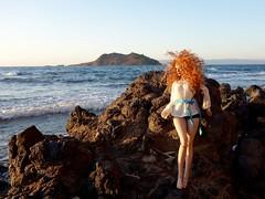 Song to the Siren (Silli'on) Tags: bjd abjd sea seaside woman redhead msd raccoondoll sunset