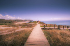 Straight towards dreams (Sizun Eye) Tags: beach amado praiadoamado dunes path perspective sun summer dreams portugal sizuneye nikond750 nikon1424mmf28 nikkor carrapateira