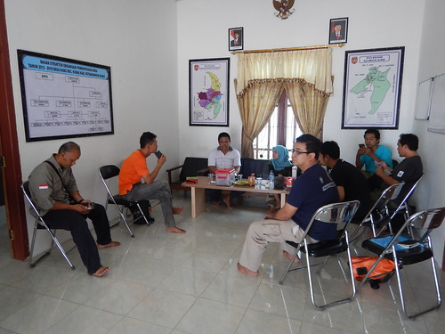 Coordinating with Head of Kubu Village