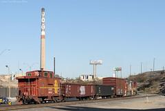 The BNSF El Paso Road Switcher departing El Paso yard. (Travis Berryman) Tags: elpasosub atsf elpaso westtexas desertrailroading asarco