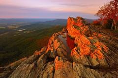 Shenandoah: Rosy glow (Shahid Durrani) Tags: shenandoah national park sunset little stony man infinity pool