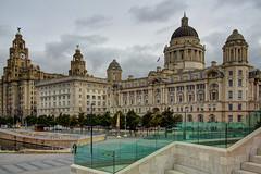 UK Liverpool - architecture - Royal Liver Bldg., Cunard Bldg., Liverpool Port Bldg. (David Pirmann) Tags: unitedkingdom britain england liverpool architecture
