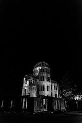 SILENT NIGHT (Sign-Z) Tags: bw nikon d7200 1680mmf284evr atomicbombdome peacememorialpark hiroshima japan 広島県 広島市 平和記念公園 原爆ドーム モノクローム 白黒 夜