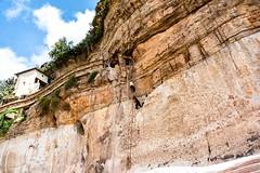 Climb to Debra Damo Monastery (Rod Waddington) Tags: africa african afrika afrique ethiopia ethiopian etiopia tigray debra damo monastery orthodox christianity coptic climb cliff rope climber landscape mountain rock building culture cultural