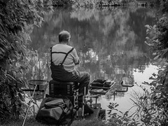 Patience.... (3 of 4) (+Pattycake+) Tags: fishingnet eastanglia street people norwich outdoor lake uea alfresco summer waiting candid evening broad mirrorless norfolk 43 lumixdmcgm1 patience picnic uk fisherman