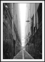 alley walk (Andrew C Wallace) Tags: alley melbourne victoria australia blackandwhite bw microfourthirds m43 olympusomdem5 ir infrared