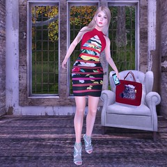 Legendaire gift (Blogging Days) Tags: exxess legendaire chic shoes made mulberry textures mini dress gift heels fashion sl