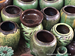 Decorative - Plant Pots Street Market - Nyaungu Bagan Myanmar (WanderingPJB) Tags: accumulation flickruploaded myanmar burma bagan decorative plantpots streetmarket bazaar nyaungu