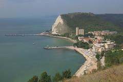 Kavarna (lyura183) Tags: bulgaria българия kavarna каварна sea blacksea черноморе rock cliff port pier