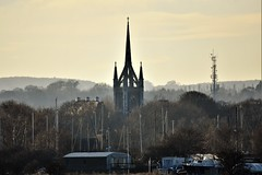 Spire, and masts. (pstone646) Tags: building masts tower church faversham skyline sky boats architecture kent