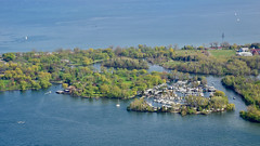 Toronto Islands (R.A. Killmer) Tags: toronto ontario canada cn tower view recreation beauty nikon d7 lake boats green blue