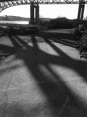 North Vancouver Waterfront Series (kenner2356) Tags: shadows industry bridges waterfront britishcolumbia canada northvancouver blackandwhite