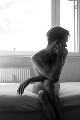(Karsten Fatur) Tags: portrait model malemodel gay lgbt lgbtq queer queerart nude naked nudemodel skin light lighting naturallight window windowlight bed windowlighting bw blackandwhite monochrome ljubljana slovenija europe