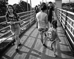 pedestrian overpass (Stitch) Tags: pedestrian overpass walking streetphotography blackandwhite bw bnw quezoncity diliman philippines