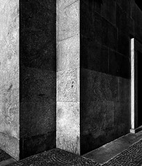 Composition -17 (Rino Alessandrini) Tags: blackandwhite architecture backgrounds abstract pattern dark concrete nopeople stonematerial wallbuildingfeature flooring blackcolor gray builtstructure textured monochrome old design constructionindustry indoors minimal geometric lines shadows uban city