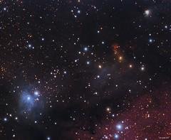 Cave Nebula Blue Area (Roberto_Mosca) Tags: deep sky nebula cave grotta lnb524 sh2155