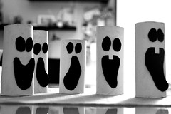 Ghosts [Explored 01-11-2018] (W@nderluster) Tags: halloween phantoms ghosts canon eos 1300d 24105mm artwork blackandwhite bw monocromo monochrome shadows smile faces abstract fear ombra biancoenero inexplore explore party face funny