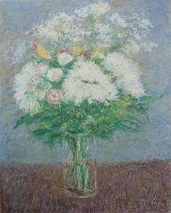 Flores en un jarrón (oleos y acuarelas-Rubén de Luis) Tags: flores florero impresionismo cuadros arte pintura