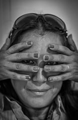 Hands #5 (Robert Borden) Tags: bw monochrome blackandwhite blancoynegro portraitphotography people person fuji fujiphoto fujifilmxt2 art arte artistic doorwayproject putyourhandsupoveryourface santaclarita la losangeles socal california southerncalifornia westcoast usa northamerica portrait woman women