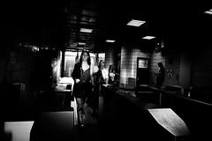 (fernando_gm) Tags: rumania bucharest bucarest bucureşti blackandwhite bw blancoynegro street calle callejera city ciudad monochrome monocromo monocromatico gente people person persona woman lights shadow luces sombras metro underground fuji fujifilm 1024mm xt1