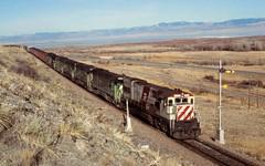 BN Townsend, MT (larryzeutschel) Tags: bn burlington northern bicentennial railroad montana mountains