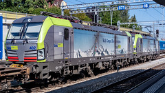 BLS Re 475s 402 & 401 Spiez 07 July 2018 (5) (BaggieWeave) Tags: switzerland swisstrains swissrailways spiez berneseoberland cantonbern vectron bls ch
