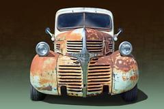 Rusty - 1945 Dodge Panel Truck (Brad Harding Photography) Tags: 1945 45 dodge antique chrome rust rusty rustic greaserama tracey missouri carshow truck paneltruck utility vehicle ratrod restoration restored automotiveart photoshop chryslercorporation