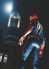 Marvel's Spider-Man (Omegapepper) Tags: wallpaper screenarchery screenshot gaming gametography videogame ps4 pro spiderman marvel sony superhero pose night character