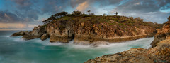 Point Lookout Morning (ian_underthesea) Tags: coastal surf tropical cliff rock sea seascapes ocean australia queensland turquoise