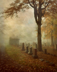 Remember Me... (David DeCamp) Tags: autumn cemetery fall graveyard morning headstone fog