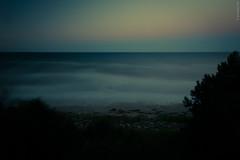 Warten auf den Mond (guidokpunkt) Tags: sommer baum wellen 2018 sonnenuntergang abendrot meer strand blauestunde klippen sand guidokpunkt ostsee mystisch deutschland keinmond