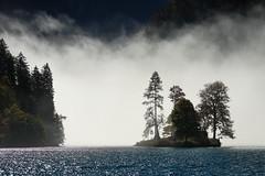 Insel Christlieger  am Königssee - Bayern (Ernst_P.) Tags: 135mm bayern deu deutschland f20 königssee samyang schönauamkönigssee walimex insel see wasser nebel