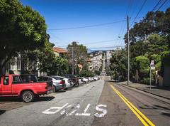 Down the City Road (shiruichua) Tags: san francisco sf city california road stop street canont5i 18135mm lens 700d cars