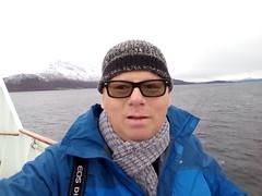 Jon in Tromso Sound (bigjon) Tags: norway hurtigruten arctic kong harold ship sailing