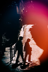Rue de Bièvre (Calinore) Tags: paris city ville street rue france couple woman man homme femme together shadow ombre