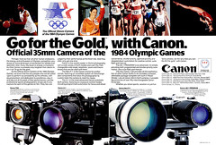 Canon Olympics Advertisement - 1984 (http://www.yashicasailorboy.com) Tags: canon camera 1984 olympics canona1