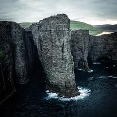 148 m (Fabian Fortmann) Tags: faroe islands landscape cliffs ocean sea scale tiny people sunset moody lake rough