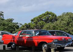 1960 Chrysler Imperial Crown (D70) Tags: bowentown newzealand 1960 chrysler imperial crown red plate esd144 nikon d700 28300mm f3556 ƒ100 823mm 1400 250 v8 6768cc