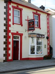 OH MY COD (pefkosmad) Tags: wales holiday september vacation lampeter fishandchips ceredigion building pun funny joke playonwords food retail