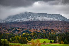 Fall into Snow in Adirondacks (mitzgami) Tags: peak newyork colors nikond850 nikonphotography mountain snow fall autumn landscapes keenevalley lakeplacid adirondacks inexplore flickr