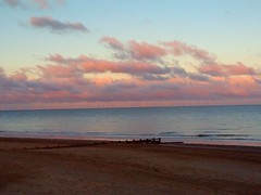North Sea Sunset Reflection (Gary Chatterton 4 million Views) Tags: skegness sunset reflection northsea clouds sky beach weather sea water huaweicamera photography flickr explore sun