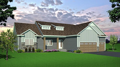 SF-02 (Mat_B) Tags: 3d model sketchup photoshop single family home house rendering trees sky bushes siding traditional architecture