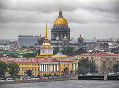 St. Petersburg (janepesle) Tags: saintpetersburg russia architecture travel city cityscape urban outdoors church dome sky river building view panorama