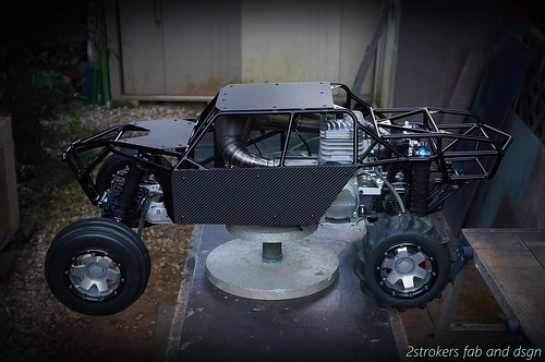 Snadrail cage Ver-40 for HPI Baja with Big bore engine  - a photo on