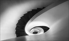 - /O/ - (antonkimpfbeck) Tags: hamburgrotterdam2018 treppenauge treppe staircase spiralstair architektur art monochrome bw fujifilm