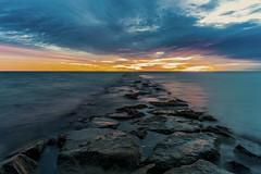 OB Jetty Sunrise (jeremyzolkowski) Tags: sunrise jetty rocks oakbluffs massachusetts islands marthasvineyard landscape seascape longexpo longexposure ocean water