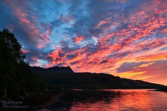 Red sky (mansachs) Tags: sky red blue mountain fjord nordland nordnorge sunset norway northern