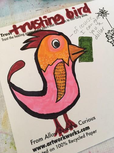 Trusting bird