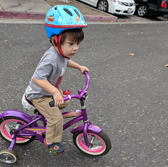 September 30: First Bike Ride (earthdog) Tags: 2018 bike bicycle helmet googlepixel pixel scooter androidapp moblog cameraphone project365 3652018